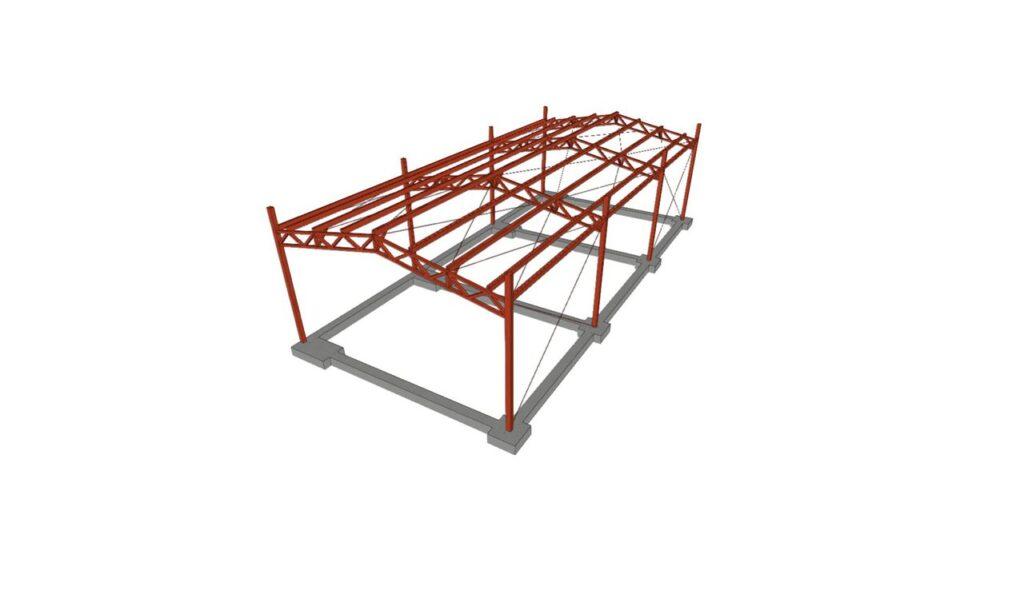 Gimnasio Estructura Metalica2